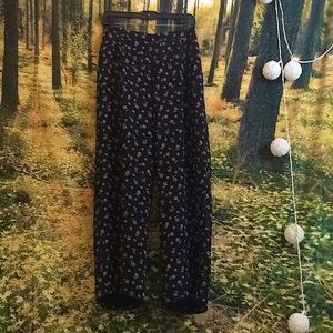 Vintage Pendleton black flowy pants